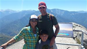 Our Family atop Moro Rock, Sequoia National Park