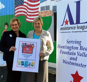 Dr. Carol Hansen with Ms. Hedy Knight of the HB Assistance League