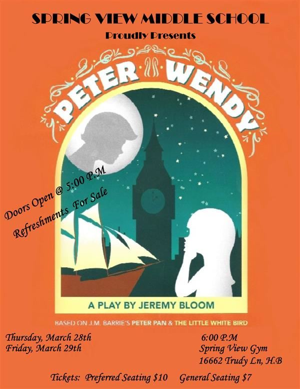 Spring View Presents:  Peter & Wendy