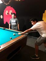 Students Play Pool in New Game Room