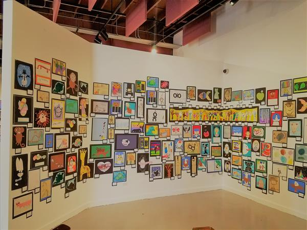 Art Wall at HB Art Center with OVSD Student Art