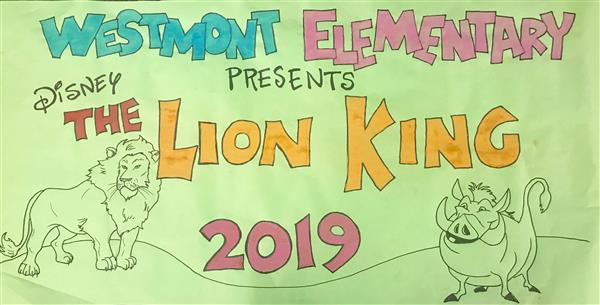 Lion King Kids poster by local artist