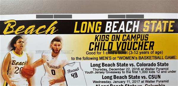 FREE Tickets to CSULB Basketball Game for Every OVSD Student