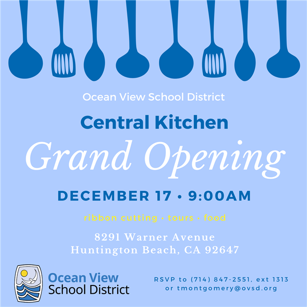 Central Kitchen Grand Opening on December 17