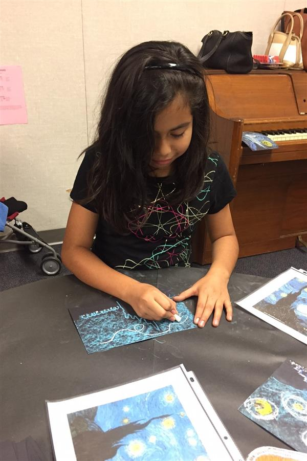 Students experimented and created artwork related to stars and science this week.