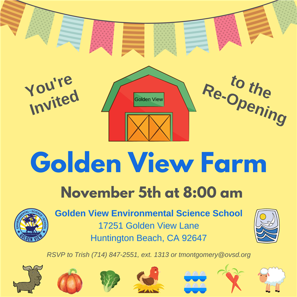 Golden View Farm Re-Opening