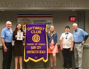 Oratorical Winners with Optimists Club