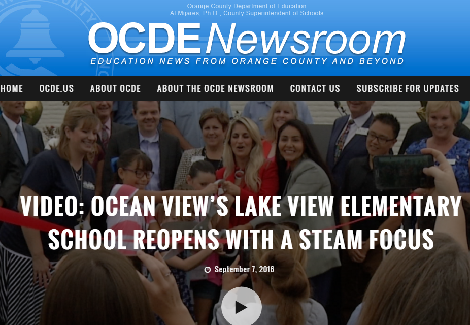OCDE Newsroom Video Coverage of Lake View Grand Reopening