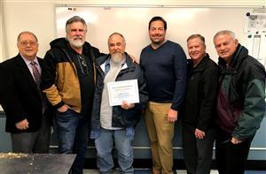 Maintenance award recipient Noah Valadez