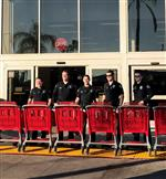 HBPD officers with shopping carts