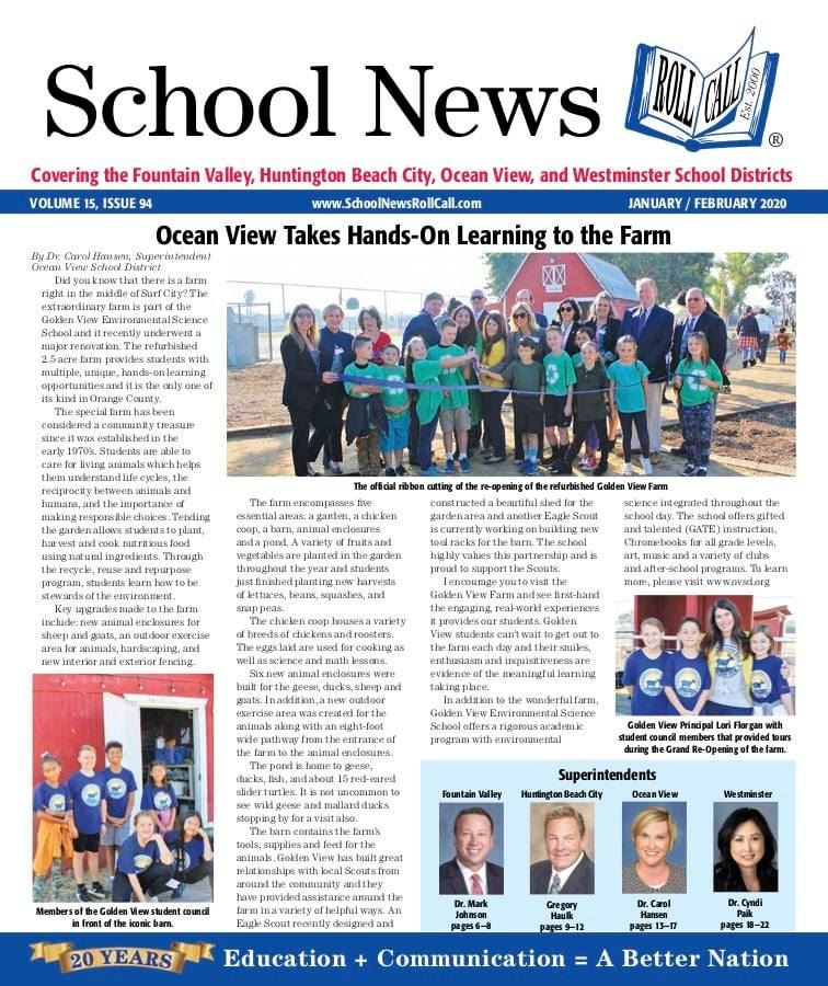 OVSD In The News: Golden View Farm Cover Story in School News