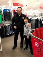 Spring View student and HBPD officer in Target