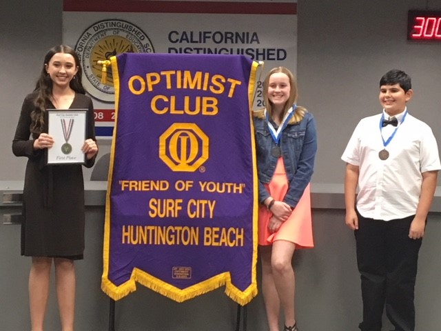 Oratorical top three students in 2019