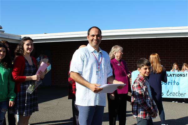 DHH Teacher Vincent Saporito Announced as Teacher of the Year