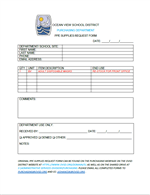PPE SUPPLIES REQUEST FORM