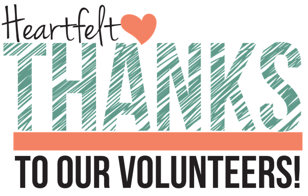 wordart: Heartfelt thanks to our volunteers